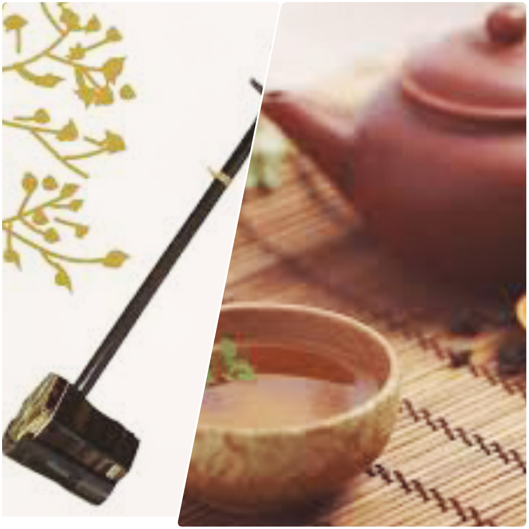 二胡と中国茶