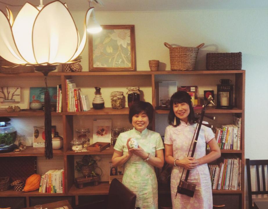 二胡と中国茶藝