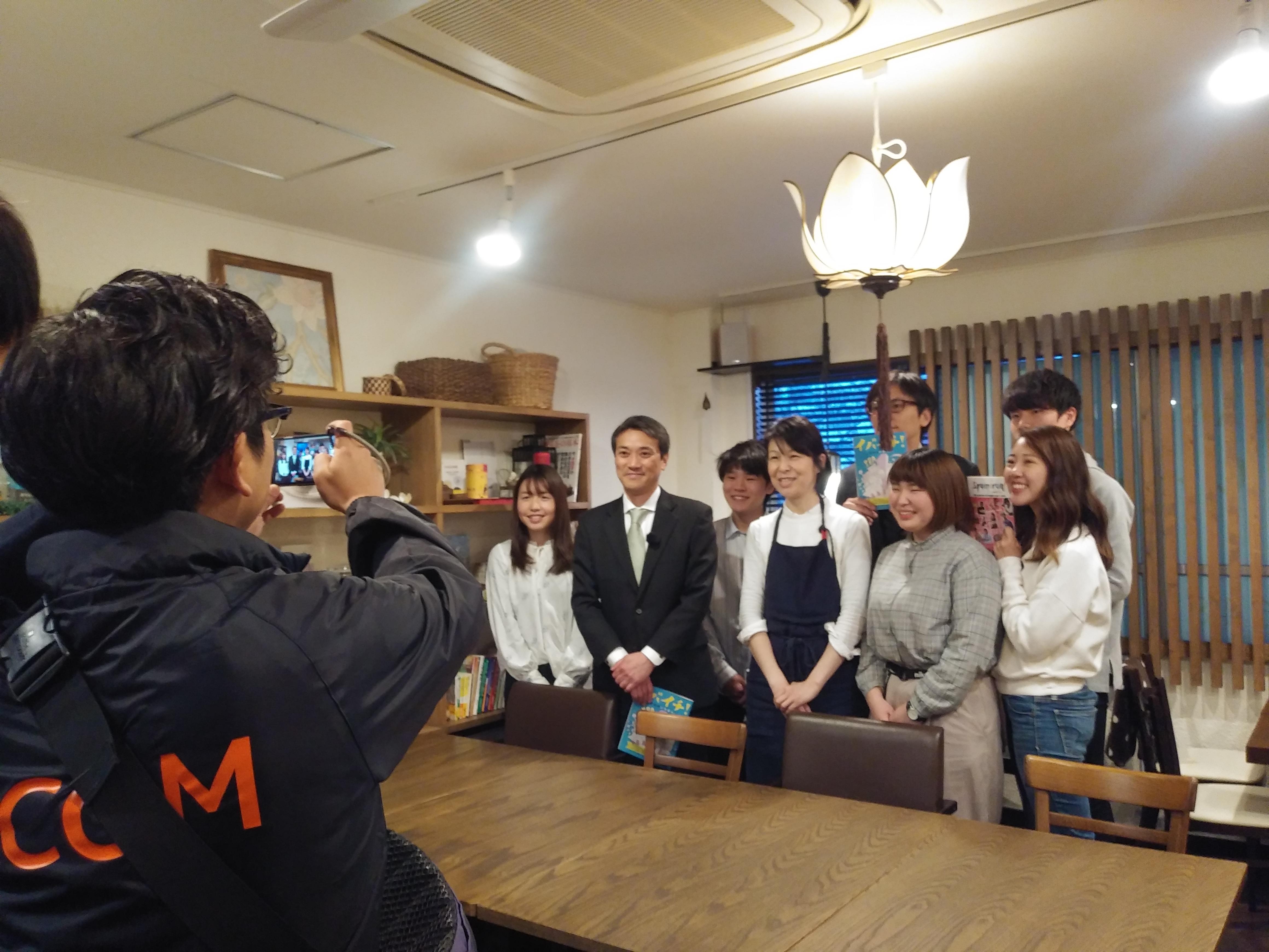 取材 JCOM テレビ取材