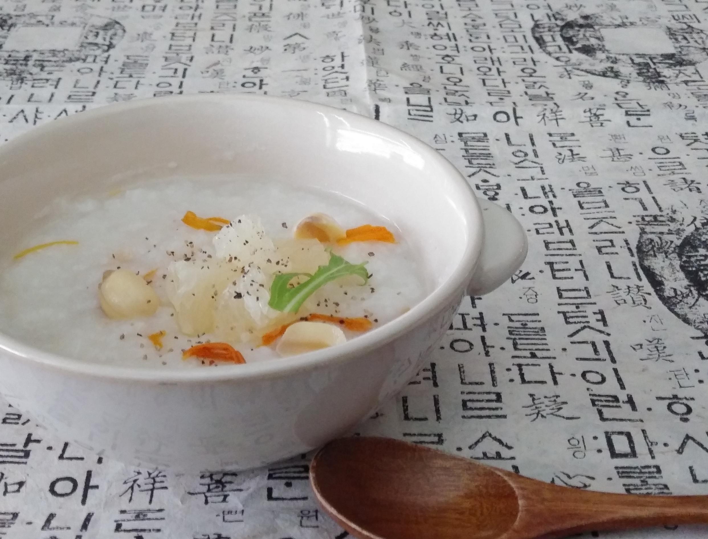 蓮の実のお粥 グレープフルーツのお粥