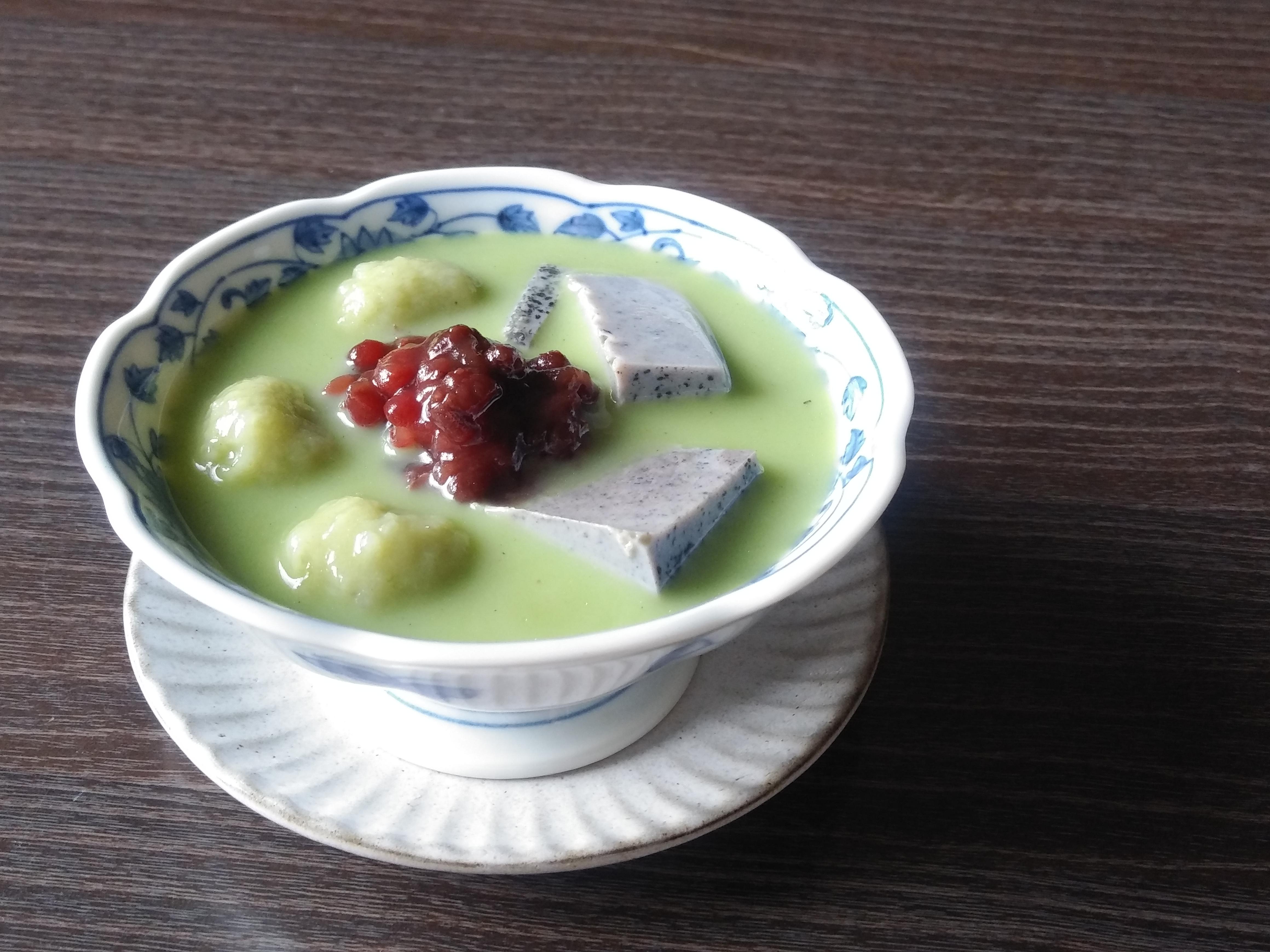 黒胡麻寒天抹茶スープ